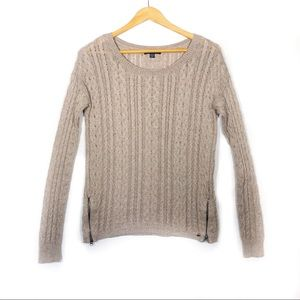 American Eagle Tan Cable Knit Sweater - Size S